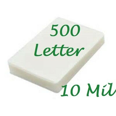 Letter Laminating Laminator Pouches Sheets 500 10 Mil 9 X 11 1 2 Scotch Quality