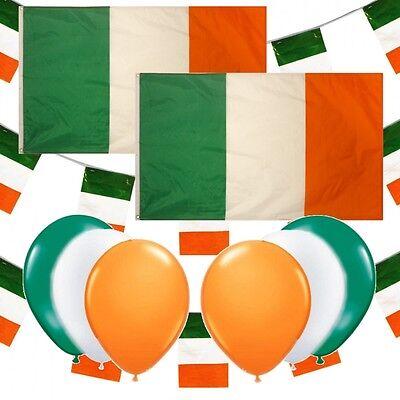 ST PATRICKS DAY FLAGS BUNTING & BALLOONS IRISH - St Patricks Party