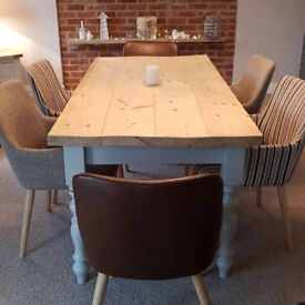 Bespoke Dining TableSix Chairs