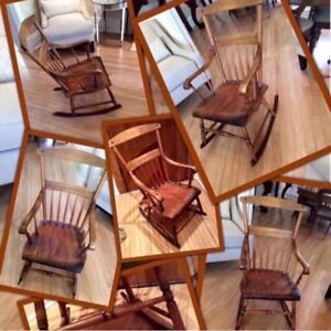 PERFECT gift forParents -To -Be✨ONE Antique Muskoka maple rocker