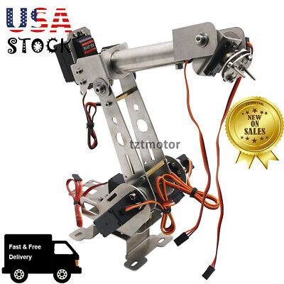 Diy 6dof Mechanical Robotic Arm Clamp Servos Kit For Smart Car Arduino Us