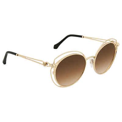 Roberto Cavalli Brown Mirror Round Sunglasses RC1030 28G 55 RC1030 28G (Roberto Cavalli Sunglasses For Men)