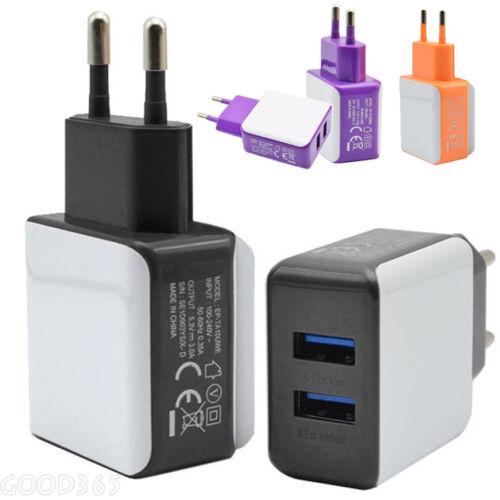 2 Porte Rapido USB parete Da viaggio AC caricabatterie adattatore per iPhone