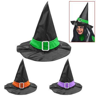 KINDER HEXENHUT Halloween Karneval Zauberin Hexen Hut Mädchen Kostüm Party 5152