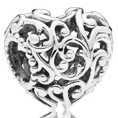 PANDORA Charm Element 797672 Regal Heart Herz Silber Bead