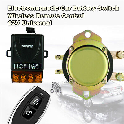 12v Ac Manual (12V Car Battery Switch Wireless Remote /Manual Control Disconnect Latching Relay)