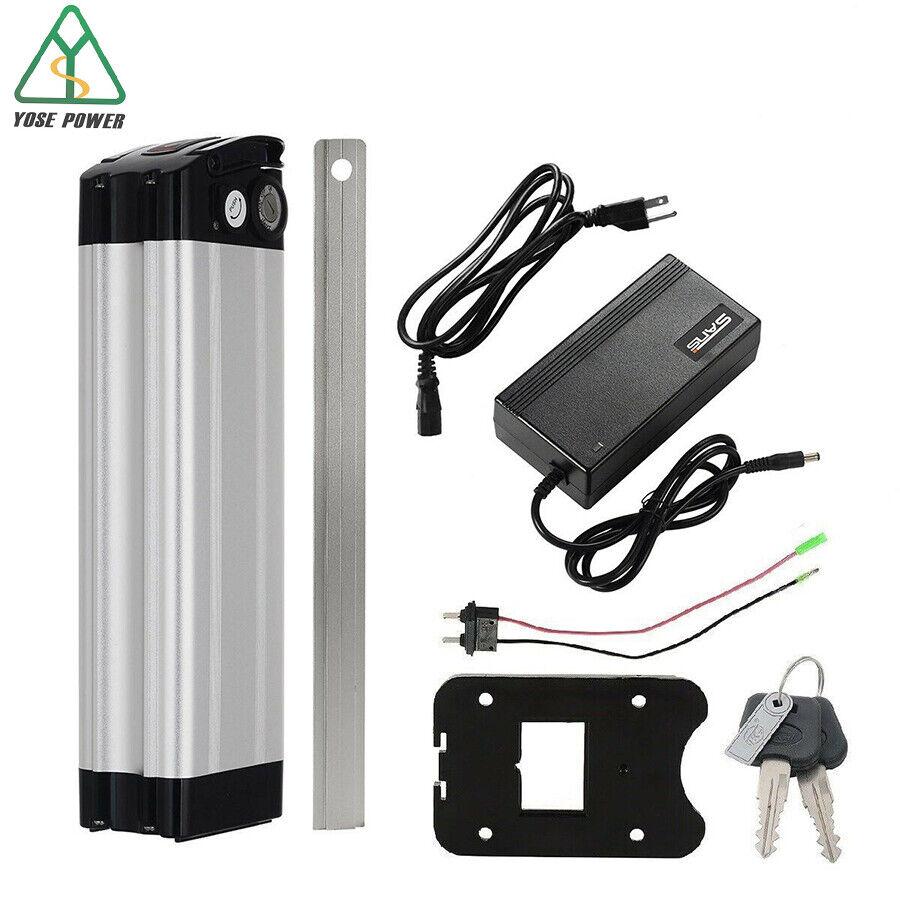 48V 10Ah 500W 1000W Silver Fish Lithium Battery with USB Ele