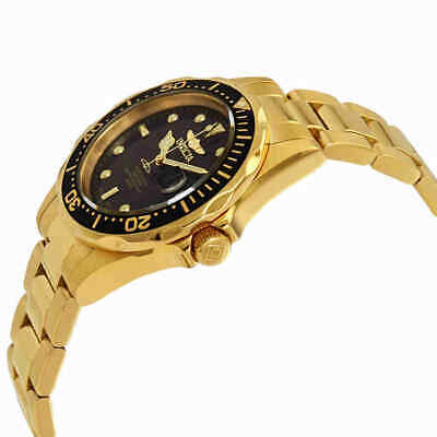 Invicta Pro Diver Black Dial Yellow Gold-plated Men's Watch 8936