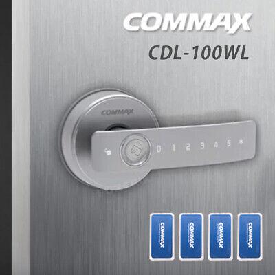 Digital Door Knob Lever Privacy Entry COMMAX CDL-100WL Keyless Lock Pin+4 RFID