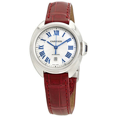 Cartier Cle de Cartier Silvered Flinque Dial Automatic Ladies Watch WSCL0016