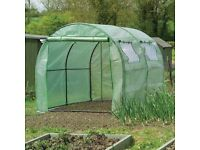 Sturdy garden polytunnel with nearly new Gardman heavy duty cover