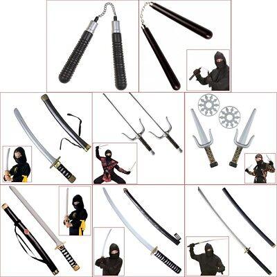 NINJA ZUBEHÖR # Samurai Japaner Katana Schwert Nunchaku - Gabel Kostüme