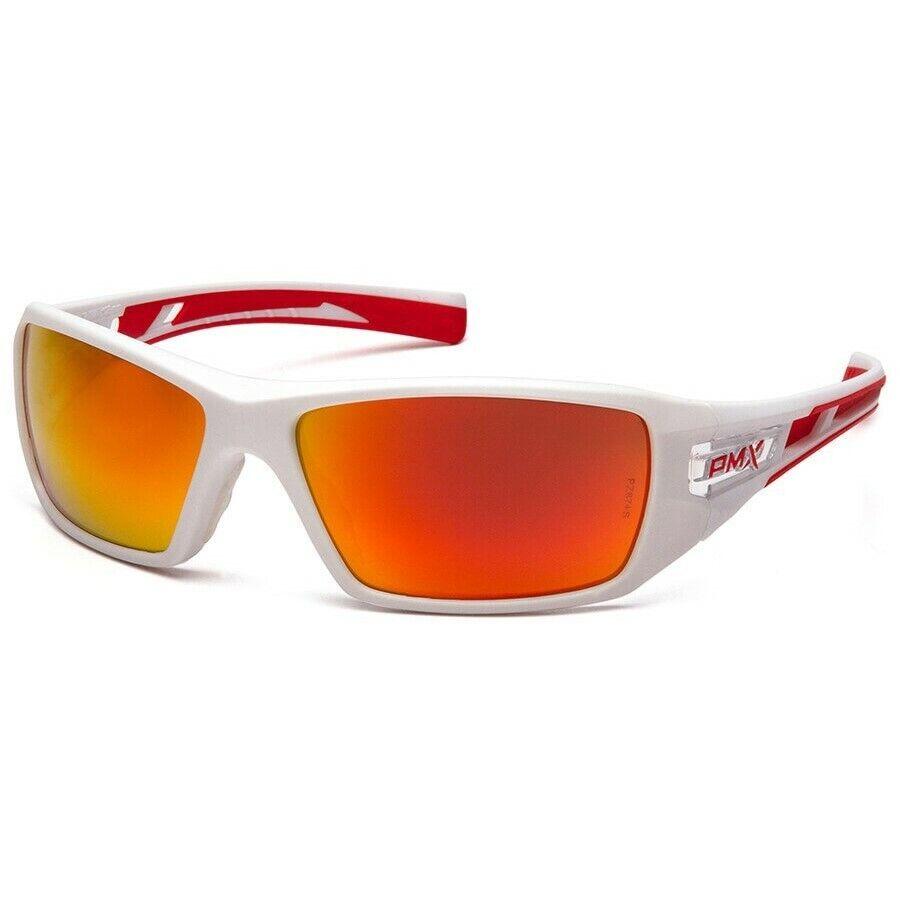 Pyramex Velar Safety Glasses Sunglasses Work Eyewear Choose Lens Color ANSI Z87+ Sky Red Mirror SWR10455D