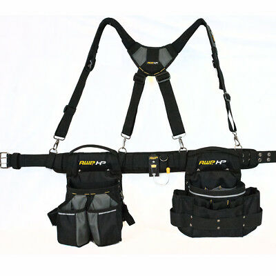 Electrician Suspension Rig Apron Padded Tool Belt Holster Strap Pocket Pouch Bag