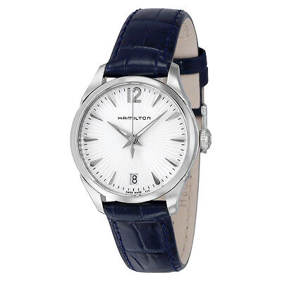 Hamilton Jazzmaster Silver Dial Blue Leather Ladies Watch H42211655