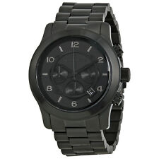 Michael Kors Blacked Out Runway Chronograph Mens Watch MK8157