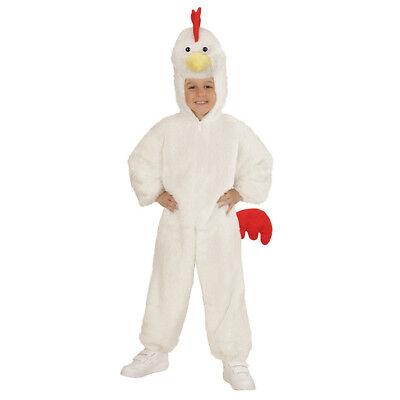 HUHN PLÜSCHKOSTÜM Karneval Hahn Tier Plüsch Kostüm Kinder Verkleidung 104 98091