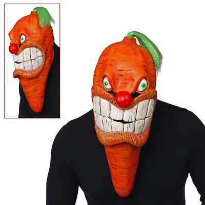 RIESEN LATEX KAROTTEN MASKE Halloween Karneval XL Möhren Kostüm Party Deko 03321