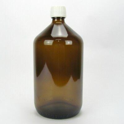 Apotheker Braunglas (Sala Braunglasflasche Apothekerflasche Verschluss Originalitätsring 1000 ml 1 L)