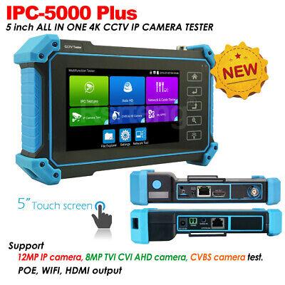 Ipc-5000 Plus 5 Screen 4k Cctv Camera Tester Ipc Ahd Cvi Tvi Test Poe Wifi Hdmi