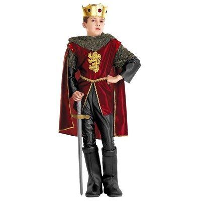 KÖNIGLICHER RITTER KOSTÜM Karneval Kinder Jungen König Mittelalter - Kind Mittelalterlicher König Kostüm