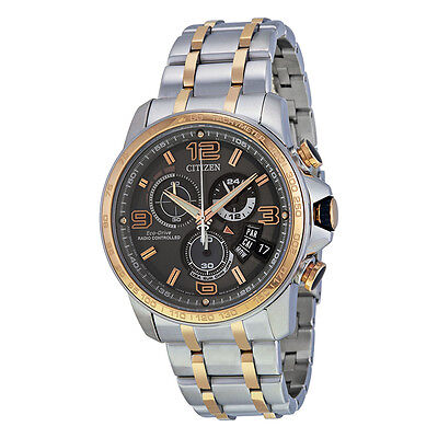 Citizen Eco-Drive Men's BY0106-55H Atomic Chronograph Two-Tone 44mm Watch