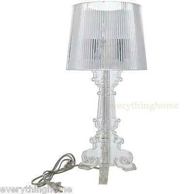 Acrylic Modern Table Lamp - CLEAR ACRYLIC TABLE LAMP FRENCH BAROQUE OLD WORLD STYLE PETIT MODERN 20
