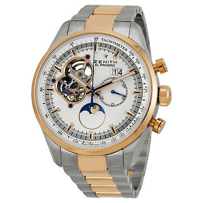Zenith Chronomaster Grande Date Automatic Silver Skeletal Dial Mens Watch