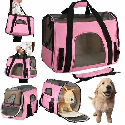 Large Pet Carrier OxFord Soft Sided Cat/Dog Comfort Travel Tote Shoulder Bag USA