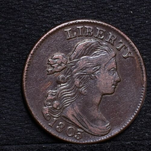 1803 Large Cent - Small Date Small Fraction - Ch VF Details (#27076)