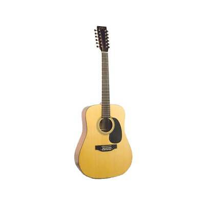 King 12 String Acoustic Guitar (Recording King RD-06-12 w/ Case 12-String Classic Series Acoustic Guitar,)