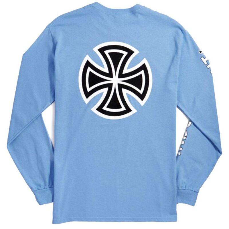 Independent Trucks BAR AND CROSS LONG SLEEVE Shirt CAROLINA BLUE XL