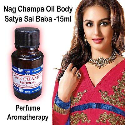Nag Champa Oil Perfume Bath Body Perfume Aromatherapy Burning Fragrance 15ml