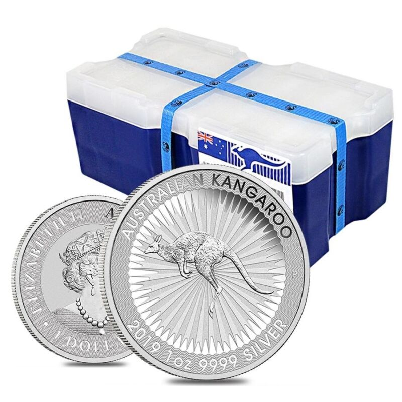 Monster Box Of 250 - 2019 1 Oz Australian Silver Kangaroo Perth Mint Coin .9999
