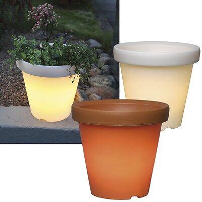LED Illuminated Planter Flower Pot Planter Flower Pot Lighted
