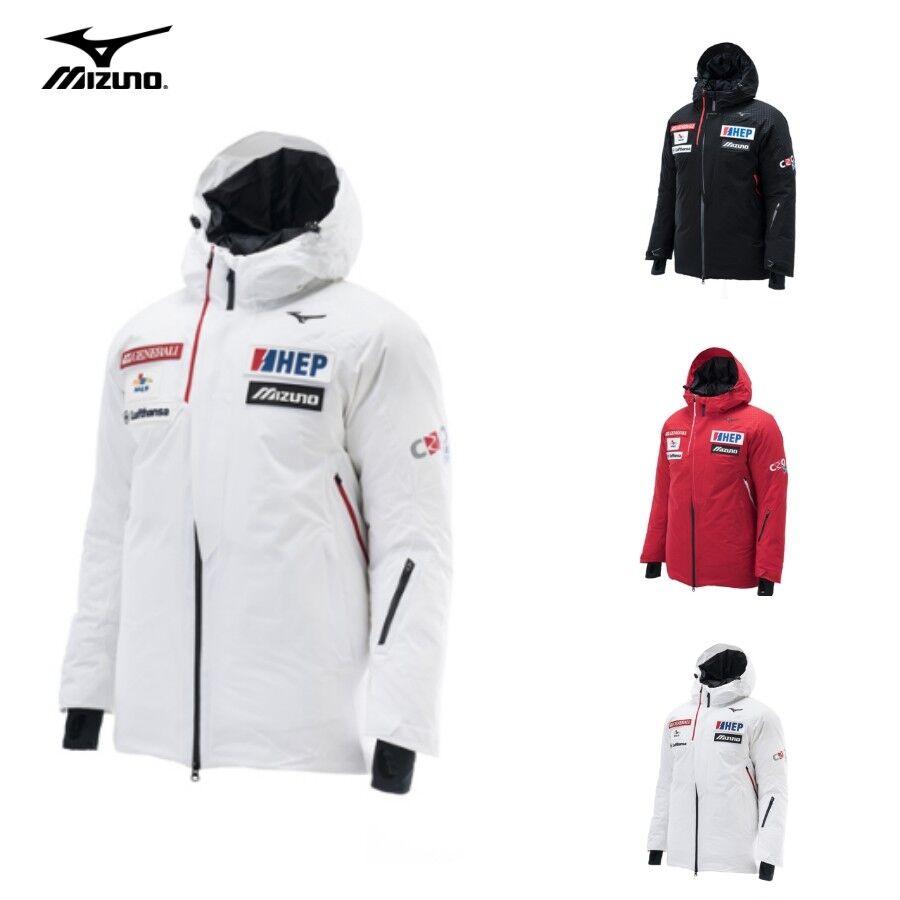 Details about MIZUNO CRO Ski MID Down Jacket 32YE8692 Winter Red Black White Sizs S XXL