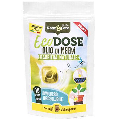 Aceite Neem 10 Dosis Única Listo para Usar Insecticida Repelente 100% Bio