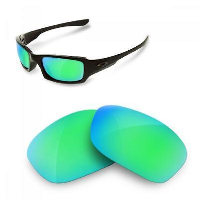 SURE Ersatzgläser Oakley Fives Squared 3.0 Polarisierte Sapphire Green Linsen