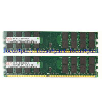 Hynix 8GB 2X4GB DDR2 PC2-6400 800MHZ 240Pin AMD DIMM Hgih Density Desktop Memory