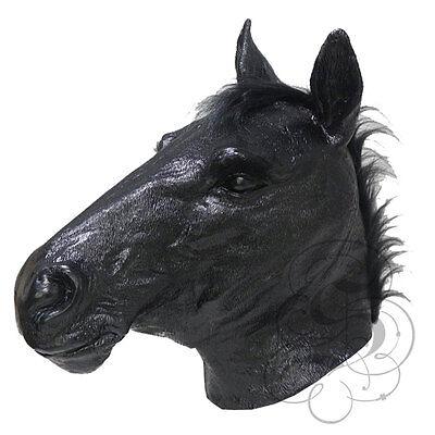 istisch Schwarzes Pferd Cosplay Kostüm Karneval Maske (Schwarzes Pferd Kostüm)