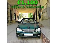 Mercedes C180 Elegance / Low miles / Quick Sale / Bargain / Cheap / Must See / C Class C200 swap px