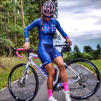 2019 Pro Team Triathlon Suit Women's Long Sleeves Cycling Jersey (Triathlon Clothes Women)
