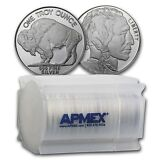 """1 oz Silver Buffalo Round (Lot, Roll, Tube of 20) - SKU #74759"""