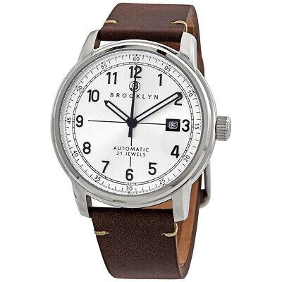 Brooklyn Watch Co. Gowanus Automatic Silver Dial Men's Watch 8600A5