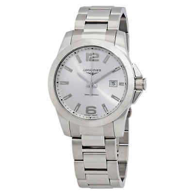 Longines Conquest Silver Dial Stainless Steel Men's Watch L37594766