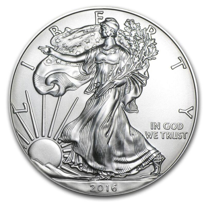 2016 American 1 oz .999 Silver Eagle USA Made Round Bullion Dollar BU Coin