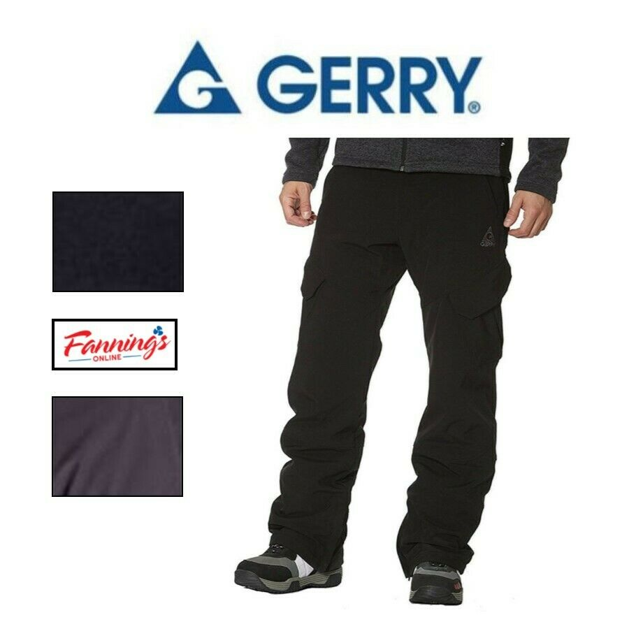 NWT Gerry Men/'s snow pants black size M