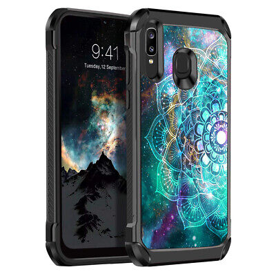 For Samsung Galaxy A50/A30/A20 Defender Mandala TPU Hybrid Heavy Duty Case Cover