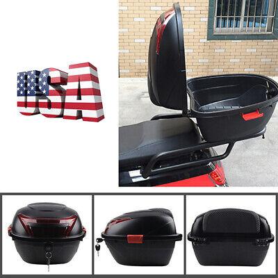 Large Capacity Motorcycle Rear Frame Tail Luggage Storage Box with Mounting Kit