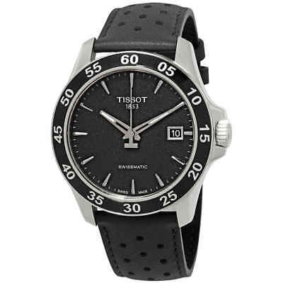 v8 automatic black dial men s watch